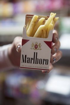 i'm going to take all of ian's cigarette boxes and replace them cigs with french fries. obvi french fries are better anyway.