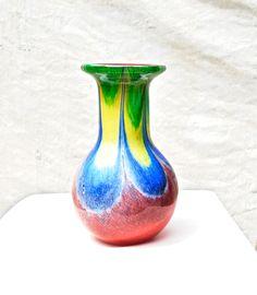 Vibrant Art Glass Vase