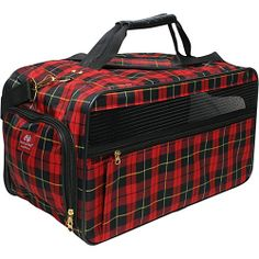 #BarkNBag, #Luggage, #PetBags - Bark n Bag Barkwell Classic Pet Carrier - Large - Plaid