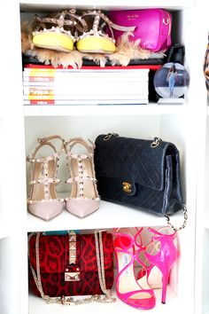 closet-fashionhippieloves-walkin-closet-designer-pieces-chanel-2.55-bag-valentino-glam-lock-bag-jimmy-choo-sandals-valentino-rockstud-flats-yellow