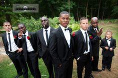 Humber Arboretum Toronto Wedding Photography, Groomsmen with cigars, very James Bond badass type shot.