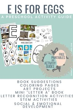 Reading and play-based Letter E preschool activities. Free printables, engaging activities and fun for you and your preschoolers. Letter E Preschool Activities Free Preschool, Preschool Printables, Preschool Classroom, Preschool Activities, Free Printables, Classroom Ideas, Letter E Activities, Speech Therapy Activities, Play Therapy Techniques