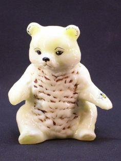 figurines glass teddy Asian bear