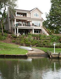 Lake House. Lake House Ideas. Lake House Exterior #LakeHouse #LakeHouseExterior  Riley Custom Homes & Renovations.