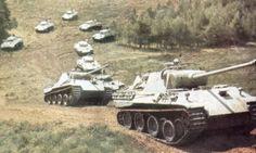 Column of Panzer V D 'Panthers'