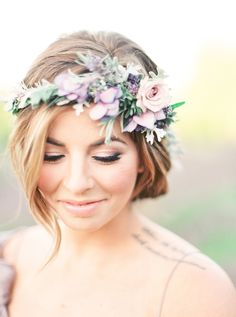 Photography: Julie Paisley - juliepaisleyphotography.com Wedding Dress: Gossamer - www.shopgossamer.com Hair And Makeup: Styled By Chrystal - www.facebook.com/StyledByChrystal   Read More on SMP: http://www.stylemepretty.com/2015/10/07/ethereal-lavender-field-wedding-inspiration/