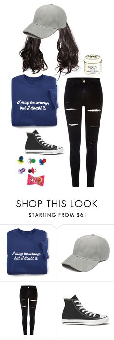 """""""dare hair"""" by dance4ever1222 ❤ liked on Polyvore featuring River Island, Converse and Burt's Bees"""