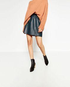 24f7c7029d05 Image 2 de MINI JUPE EN SIMILI CUIR de Zara Faux Leather Skirt, Leather Mini