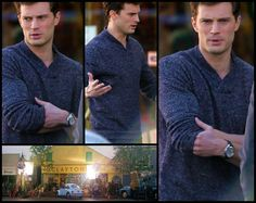 Jamie Dornan as Christian Grey SO HOT!! Fifty Shades of Grey movie set
