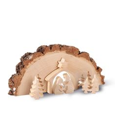 Puzzles and no l on pinterest - Modele de creche de noel en bois ...