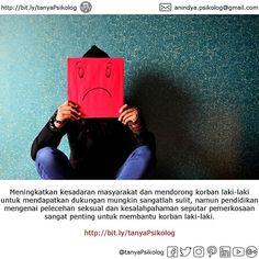 Pemerkosaan Pada Laki-laki Juga Terjadi. Apa Kamu Tahu?  Meningkatkan kesadaran masyarakat dan mendorong korban laki-laki untuk mendapatkan dukungan mungkin sangatlah sulit namun pendidikan mengenai pelecehan seksual dan kesalahpahaman seputar pemerkosaan sangat penting untuk membantu korban laki-laki.  #tanyaPsikolog #konseling #konsultasi #psikologi #psikologianak #psikologiremaja #psikologidewasa #jakarta #konsultasipsikologi #PsychologistJKT #Psychology #MHSM #PsychologistJakarta…