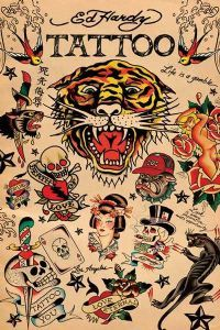 Ed Hardy tattoos. BEFORE the cheesy and icky clothing line. 4fba5569116