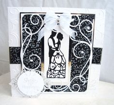 Tonic Silhouette and Mystic Vine die sets… Wedding Shower Cards, Wedding Cards, Die Cut Cards, Love Cards, Craft Wedding, Wedding Ideas, Tonic Cards, Studio Cards, Engagement Cards