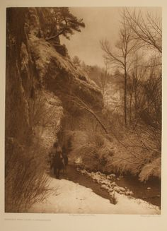 Edward Sheriff Curtis. Passing the Cliff—Apsaroke, 1908. Dubuque Museum of Art, Dubuque, Iowa. Gift of the Dubuque Cultural Preservation Committee, an Iowa general partnership consisting of Dr. Darryl K. Mozena, Jeffrey P. Mozena, Mark Falb, Timothy J. Conlon, and Dr. Randall Lengeling. 2009.132. #Lifeonthewater