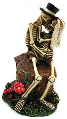 Skeleton Wedding Cake Topper