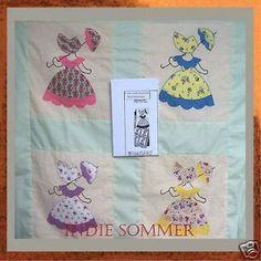 Sunbonnet Sue Quilt Designs | Sunbonnet Sue Pattern 70/Japanese Patchwork Quilt Sewing Craft Pattern