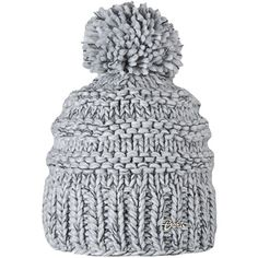 Barts Jasmin Knitted Beanie, One Size, Heather Grey ($35) ❤ liked on Polyvore featuring accessories, hats, heather grey, sport hats, logo hats, sport beanie, logo beanie hats and sports beanie hats