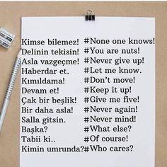 Everyday English, English Time, Learn Turkish, Turkish Language, Grammar And Vocabulary, American English, English Grammar, Languages, Learning