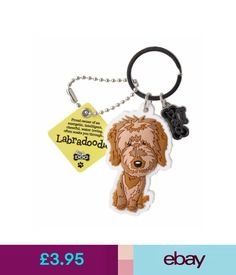 Plaques & Signs Labradoodle 3D Key Ring Bag Charm Tag Dog Lovers Gift Stocking Filler #ebay #Home & Garden