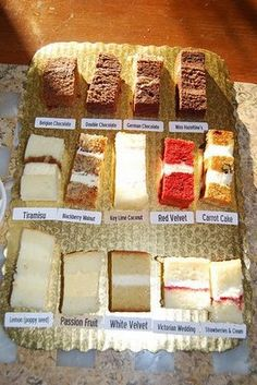 Flavors available for Italian wedding cakes Food Cakes, Cupcake Cakes, Italian Wedding Cakes, Wedding Cake Flavors, Wedding Cake Recipes, Wedding Cake Fillings, Birthday Cake Flavors, Cake Business, Cake Tasting