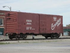 Lonely boxcar without a train! C B & Q - Burlington Route - Everywhere west