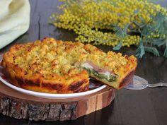 SBRICIOLATA DI PATATE ricetta torta con zucchine prosciutto formaggio