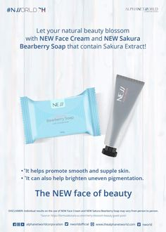 Dreaming of having a blooming and lovely skin? Achieve it with NEW Face Cream and NEW Sakura Bearberry Soap! Showcase the NEW face of beauty with these wonderful NWORLD products! Nlighten Products, Korean Products, Pimple Marks, Acne Marks, Trauma, Filipina Beauty, Acne Blemishes, Beauty Soap, How To Gain Confidence