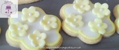 Yellow flower biscuits Biscuits by Sugar and Icing Cakes Birmingham: Image