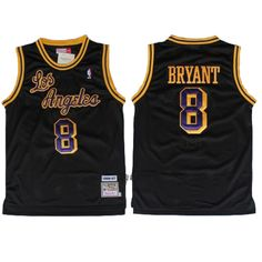 6a1b39b2765a Kobe  Bryant Jersey - Los Angeles  Lakers 8 Black Throwback Jersey. The name