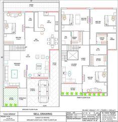 New house exterior green floor plans ideas 2bhk House Plan, Model House Plan, House Layout Plans, Family House Plans, Best House Plans, Dream House Plans, 40x60 House Plans, Duplex Floor Plans, Wood House Design