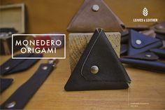 Monedero Origami color negro