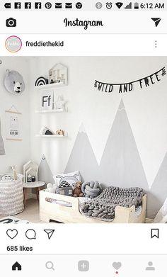 pokój Bruna Baby Bedroom, Baby Boy Rooms, Girls Bedroom, Boys Room Decor, Kids Room, Sibling Room, Ideas Habitaciones, Baby Deco, Princess Room