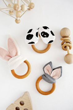 Wooden Ring Crinkle Teether DIY – A Beautiful Mess