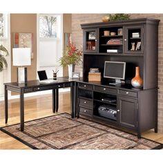 Carlyle Corner L-Shape Desk with Credenza and Hutch - Belfort Furniture - Corner Unit Desk Washington DC, Northern Virginia, Maryland and Fairfax VA