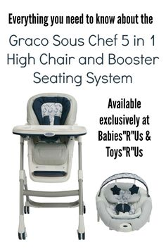 Graco Sous Chef 5 In 1 High Chair And Booster Seating System Review U0026  Giveaway