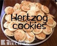 South African Recipes Hertzog cookies (Kathy Termorshuizen) Read More by SAfricanRecipes South African Desserts, South African Dishes, South African Recipes, Kos, Fun Desserts, Dessert Recipes, Biscuit Recipe, International Recipes, No Bake Cake