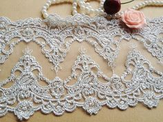 Elegant Embroidery Tulle Lace with Silver Thread for Altered Couture, Bridal, Costume Design