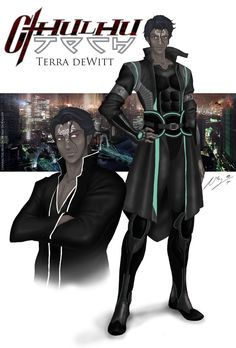 """Terra deWitt, FSB agent in Paris  Character design for a role playing cronicle in the universe of """"Cthulhutech"""""""