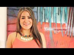 Como Hacer un Collar Estilo Egipcio Con Pendientes de Acrílico y Cuero Sintético - YouTube
