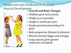 I chose this image because it describes the children between 6 and 12 physical developments. As the developments appear in this image. As when the human grows his body becomes bigger, his height and weight becomes bigger. And because many people want to know their physical developments.