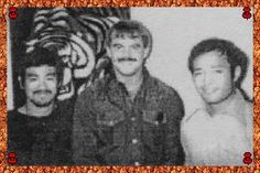 Bruce Lee, Larry Hartsell and Dan Inosanto hanging out together