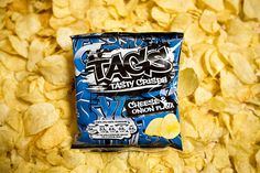 Tags Tasty Crisps, cheese & onion