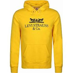 Levis, Levi Strauss & Co, Bat Wings, Boxers, Fit, Yellow, Sweatshirts, Classic, Sweaters