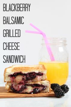 Blackberry Balsamic Grilled Cheese Sandwich