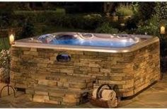 Hot Spring Vanguard in Spa Stone option