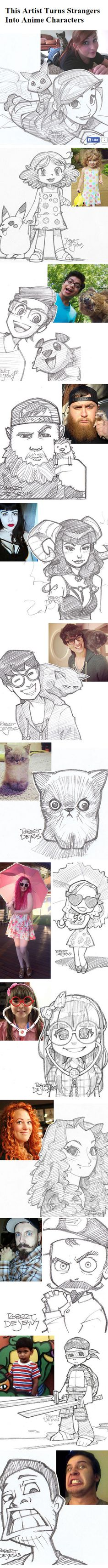 This Artist Turns Strangers Into Anime Characters http://www.boredpanda.com/anime-sketches-from-photos-robert-dejesus/