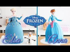 FROZEN CAKES ❄️ Elsa & Anna Doll Cake Tan Dulce - YouTube