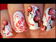 Nail art tutoriel - nail art feria avec fleur one stroke