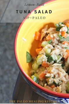 This AIP Paleo tuna salad is delicious and healthy and it is great when you need a quick snack or meal. Paleo Tuna Salad, Lemon Basil, Autoimmune Paleo, Quick Snacks, Paleo Diet, Guacamole, Meals, Healthy, Ethnic Recipes