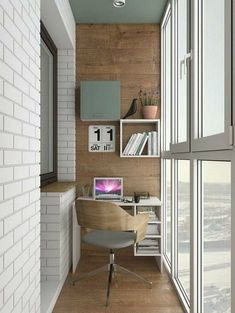 small office design ideas on the balcony which you definitely like page 15 Industrial Home Offices, Industrial Interior Design, Scandinavian Interior Design, Interior Design Living Room, Industrial Living, Small Office Design, Home Office Design, Photowall Ideas, Balkon Design
